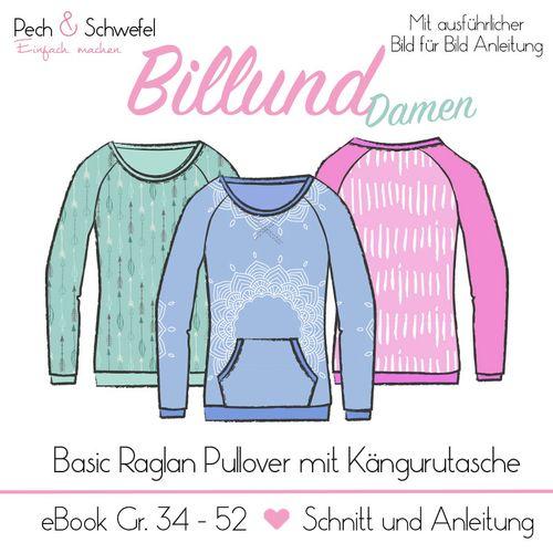 Produktfoto von Pech & Schwefel zum Nähen für Schnittmuster Pullover Billund Damen