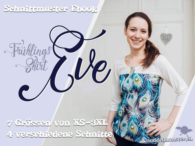 Produktfoto von Knuddelmonster zum Nähen für Schnittmuster Shirt Eve