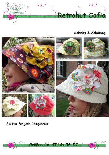 Produktfoto von AmElina Träumelie zum Nähen für Schnittmuster Retrohut Sofia