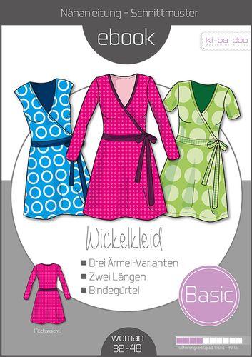 Produktfoto von ki-ba-doo zum Nähen für Schnittmuster Basic Wickelkleid