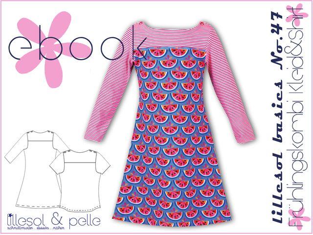 Produktfoto von Lillesol & Pelle zum Nähen für Schnittmuster Lillesol basics No. 47 Frühlingskombi Kleid und Shirt