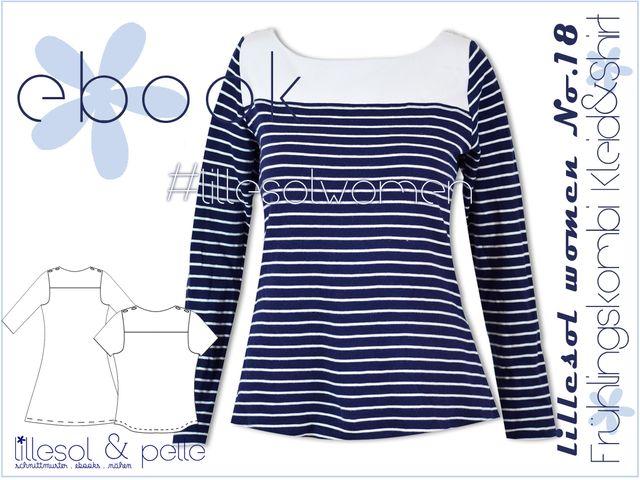 Produktfoto von Lillesol & Pelle zum Nähen für Schnittmuster Lillesol Women No.18 Frühlingskombi Kleid und Shirt
