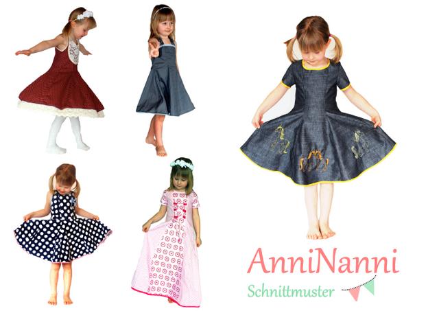 Produktfoto von Anni Nanni zum Nähen für Schnittmuster AnniNanni Mädchentraum