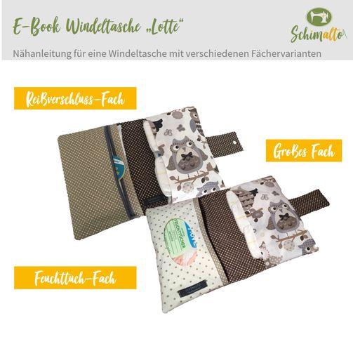 Produktfoto von schimalto zum Nähen für Schnittmuster Windeltasche Lotte