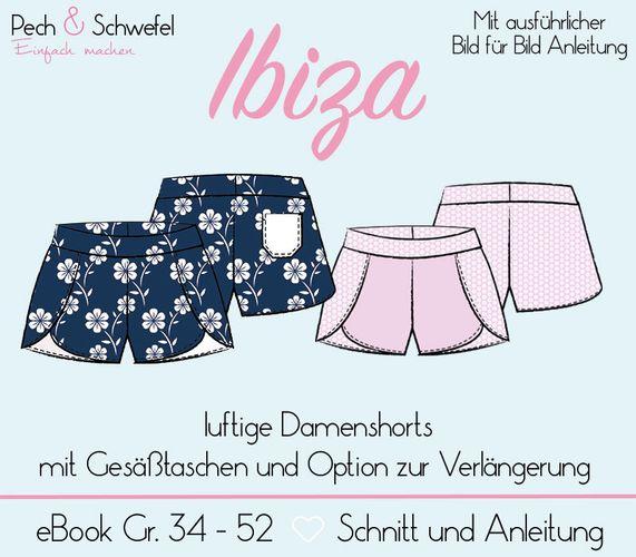 Produktfoto von Pech & Schwefel für Schnittmuster Damenshorts Ibiza