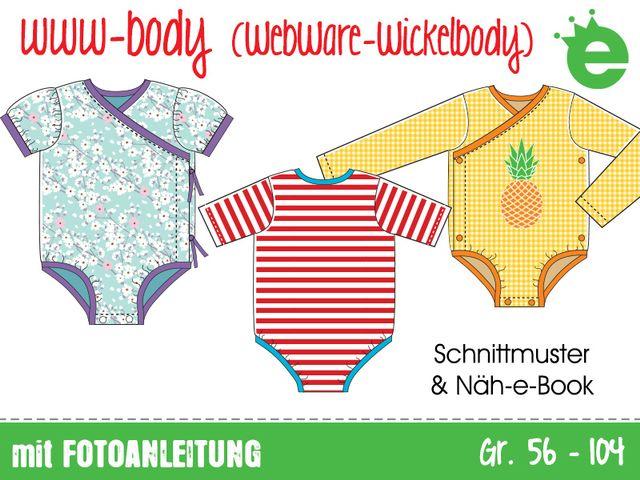 Produktfoto von Erbsenprinzessin zum Nähen für Schnittmuster www-Body (WebWareWickelbody)