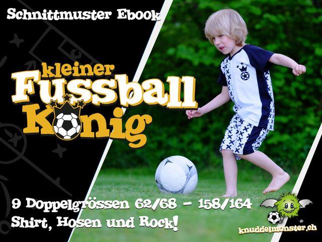 Produktfoto von Knuddelmonster zum Nähen für Schnittmuster Kleiner Fussballkönig
