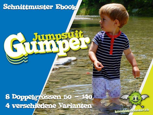 Produktfoto von Knuddelmonster zum Nähen für Schnittmuster Jumpsuit Gumper