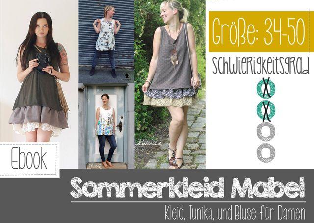 Produktfoto von FeeFee zum Nähen für Schnittmuster Sommerkleid Mabel Damen