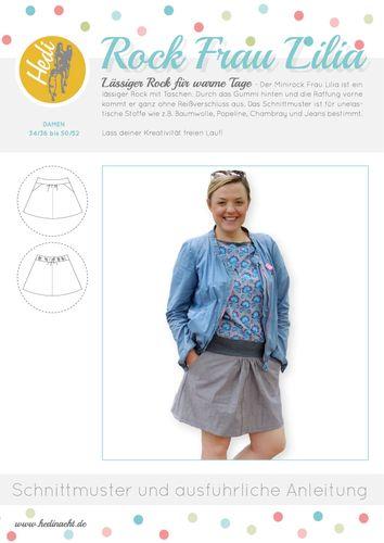Produktfoto von Hedi zum Nähen für Schnittmuster Hüftrock Frau Lilia