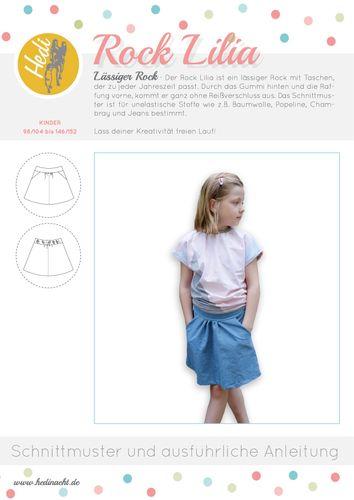 Produktfoto von Hedi zum Nähen für Schnittmuster Hüftrock Lilia