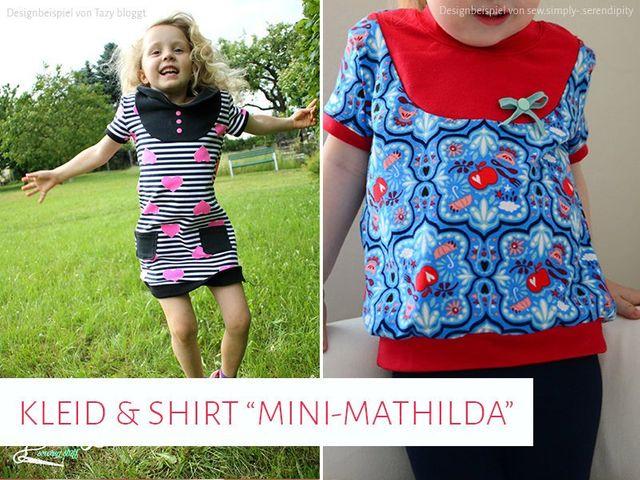 """Produktfoto von kreativlabor Berlin zum Nähen für Schnittmuster Kleid & Shirt """"Mini-Mathilda"""""""
