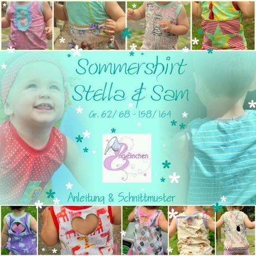 Produktfoto von Engelinchen für Schnittmuster Sommershirt Stella & Sam