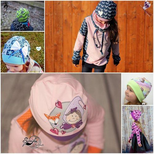 Produktfoto von Engelinchen zum Nähen für Schnittmuster Kindermütze, kopfanliegend