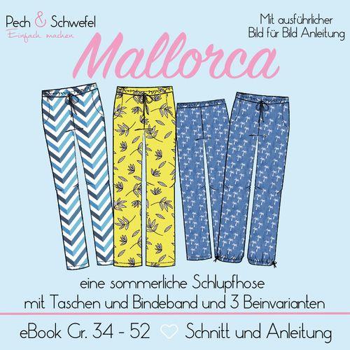 Produktfoto von Pech & Schwefel zum Nähen für Schnittmuster Damenhose Mallorca