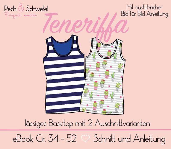 Produktfoto von Pech & Schwefel zum Nähen für Schnittmuster Damentop Teneriffa