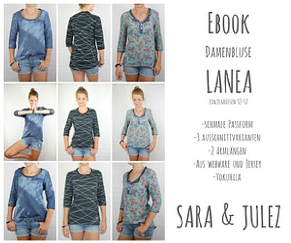 Produktfoto von Sara & Julez zum Nähen für Schnittmuster Lanea