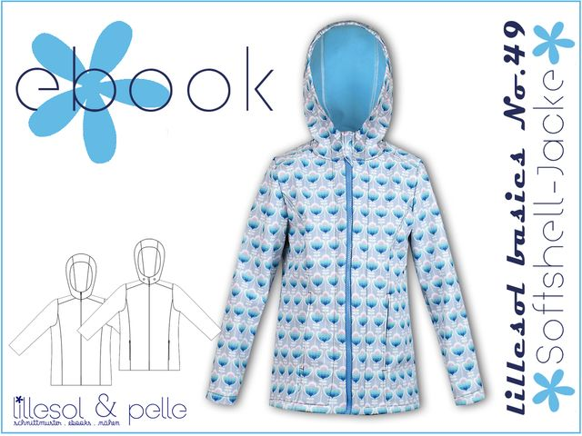 Produktfoto von Lillesol & Pelle zum Nähen für Schnittmuster Lillesol basics No. 49 Softshell-Jacke