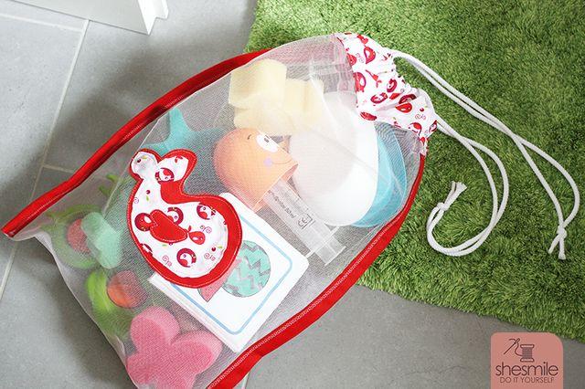 Produktfoto von shesmile zum Nähen für Schnittmuster Badespielzeug-Tasche aus Tüll