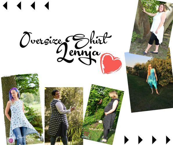 Produktfoto von Mamili1910 zum Nähen für Schnittmuster Oversize Shirt Lennja