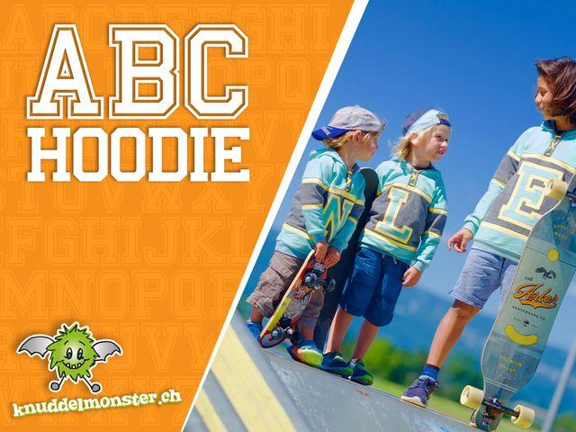Produktfoto von Knuddelmonster zum Nähen für Schnittmuster ABC Hoodie