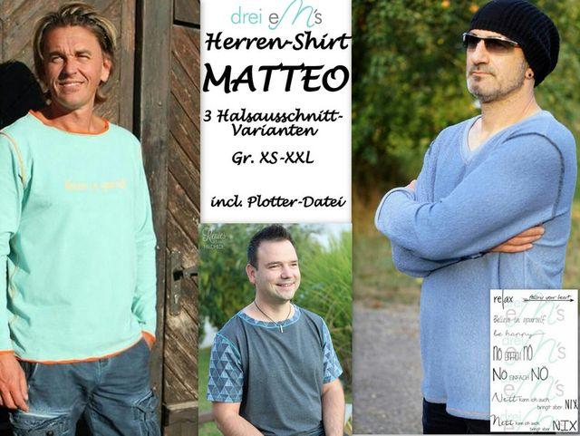 Schnittmuster Herren-Shirt Matteo von drei eMs