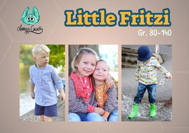 Produktfoto von Annas-Country zum Nähen für Schnittmuster Little Fritzi - das Fischerhemd