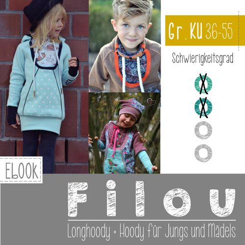 Produktfoto von FeeFee zum Nähen für Schnittmuster Hoody Filou