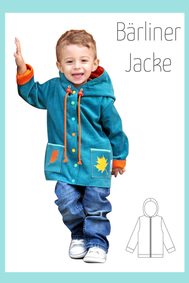 Produktfoto von Berlinerie zum Nähen für Schnittmuster Bärliner Jacke