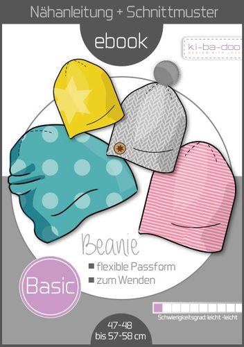 Produktfoto von ki-ba-doo zum Nähen für Schnittmuster Basic Beanie