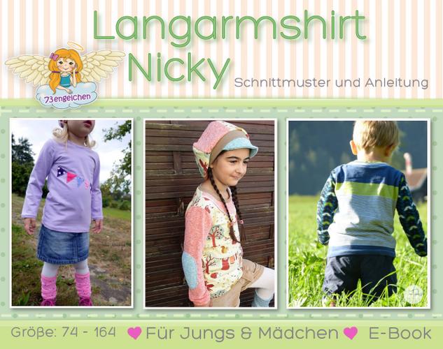 Produktfoto von 73engelchen zum Nähen für Schnittmuster Langarmshirt Nicky