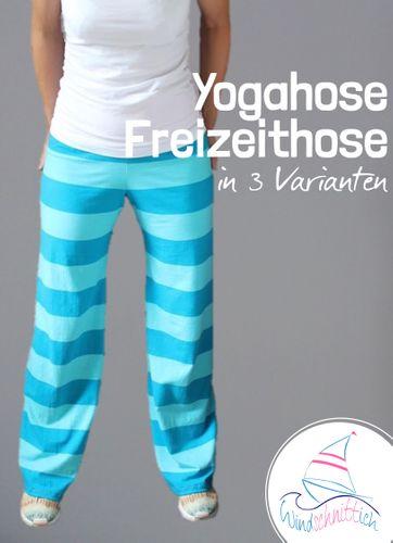 Produktfoto von Windschnittich zum Nähen für Schnittmuster Yogahose Freizeithose