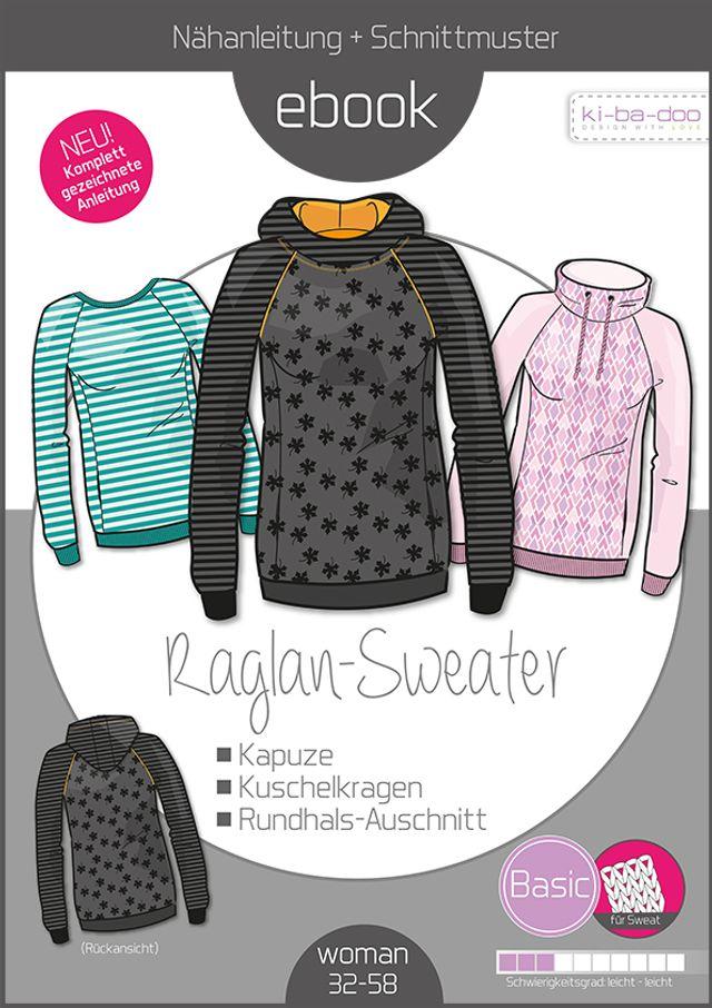 Produktfoto von ki-ba-doo zum Nähen für Schnittmuster Basic Raglan Sweater