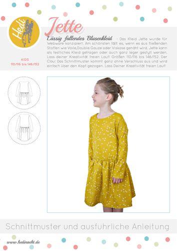 Produktfoto von Hedi zum Nähen für Schnittmuster Blusenkleid Jette