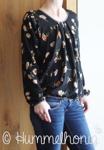 Produktfoto von Hummelhonig zum Nähen für Schnittmuster Damenbluse Riga