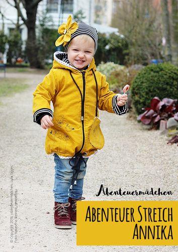 Produktfoto von Abenteuermädchen zum Nähen für Schnittmuster Abenteuerstreich Annika