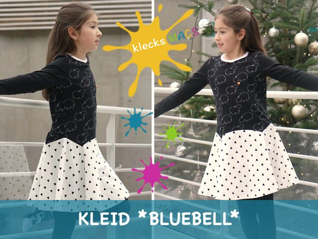 Produktfoto von klecksMACS zum Nähen für Schnittmuster Bluebell