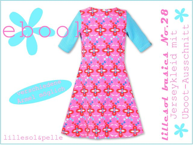 Produktfoto von Lillesol & Pelle zum Nähen für Schnittmuster Lillesol basics No. 28 Jerseykleid mit Uboot-Ausschnitt