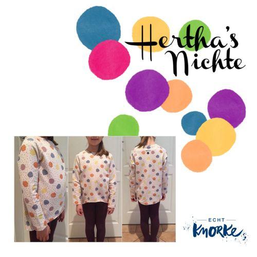 Produktfoto von echt Knorke zum Nähen für Schnittmuster Hertha's Nichte