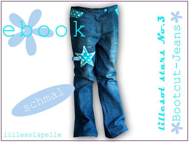 Produktfoto von Lillesol & Pelle zum Nähen für Schnittmuster Lillesol stars No. 3 Bootcut-Jeans