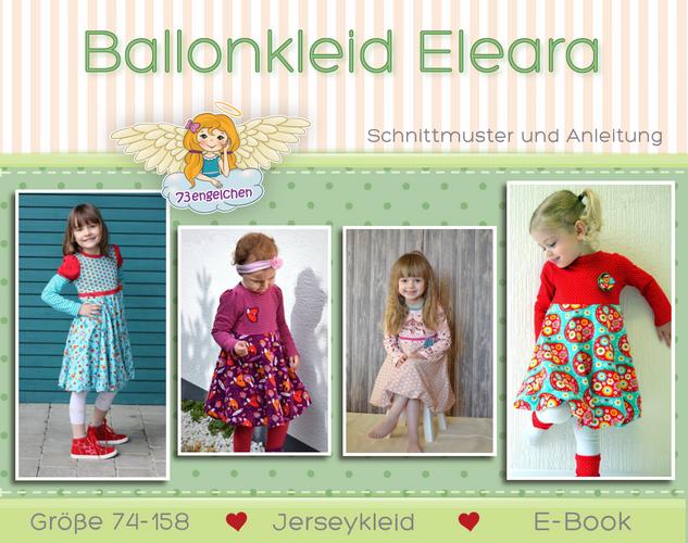 Produktfoto von 73engelchen zum Nähen für Schnittmuster Ballonkleid Eleara