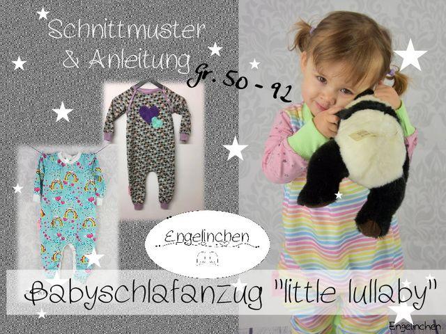 Produktfoto von Engelinchen zum Nähen für Schnittmuster Babyschlafanzug Little Lullaby