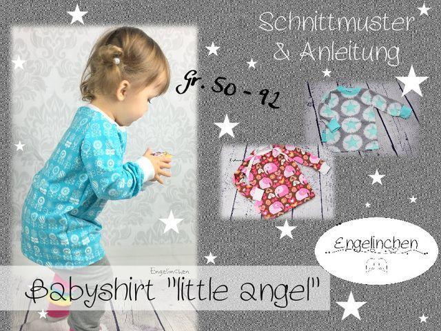 Produktfoto von Engelinchen zum Nähen für Schnittmuster Babyshirt Little Angel