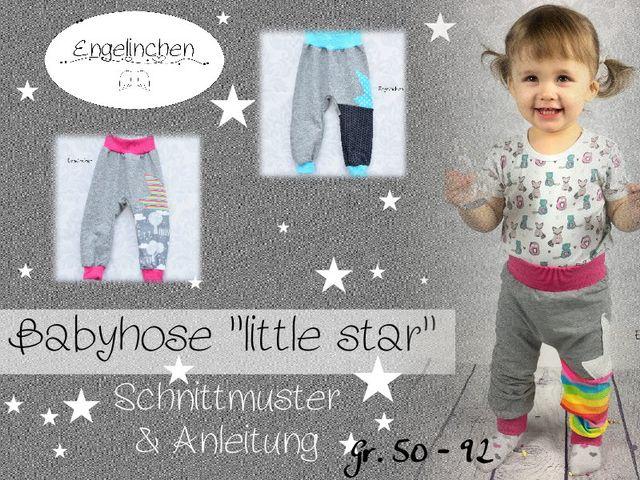 Produktfoto von Engelinchen zum Nähen für Schnittmuster Babyhose Little Star