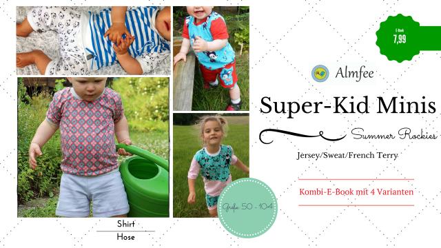 Produktfoto von Almfee zum Nähen für Schnittmuster Super-Kid Minis Summer Rockies