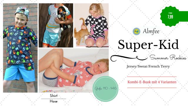 Produktfoto von Almfee zum Nähen für Schnittmuster Super-Kid Summer Rockies