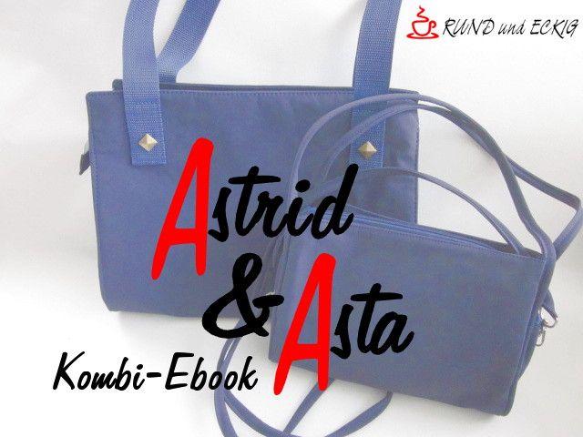 """Produktfoto 1 von RUND und ECKIG zum Nähen für Schnittmuster Kombi-Ebook Taschen """"Astrid"""" & """"Asta"""""""