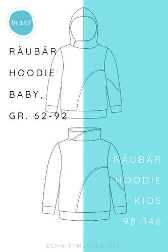 Produktfoto 1 von Berlinerie zum Nähen für Schnittmuster Räubärhoodie Baby+Kids Gr. 62-146