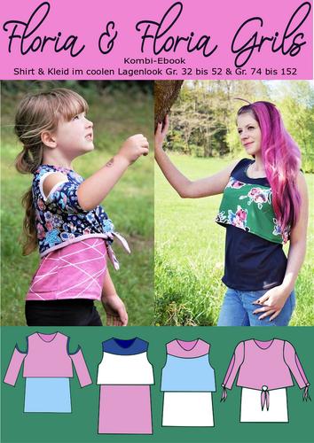 Produktfoto 1 von Rosalieb & Wildblau zum Nähen für Schnittmuster Kombi-Ebook Floria Girls + Floria Damen