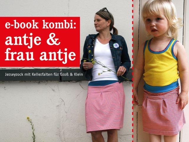 Produktfoto 1 von STUDIO SCHNITTREIF zum Nähen für Schnittmuster FRAU ANTJE & ANTJE Jerseyröcke im Partnerlook